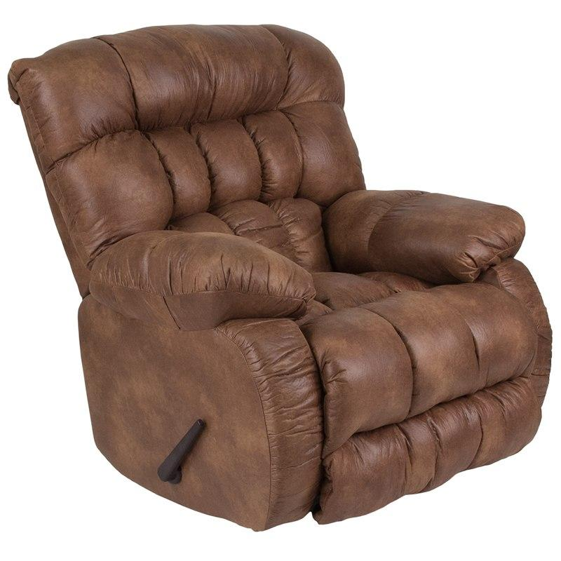 Flash Furniture WA-9200-691-GG Contemporary Breathable Comfort Padre Almond Fabric Rocker Recliner