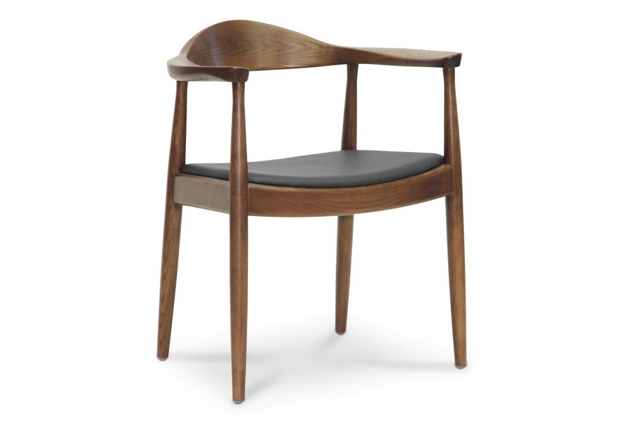 Wholesale interiors Embick Mid-Century Modern Dining Chair WD-604-Dark Brown