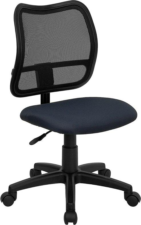 Flash Furniture WL-A277-NVY-GG Mid-Back Navy Blue Mesh Swivel Task Chair