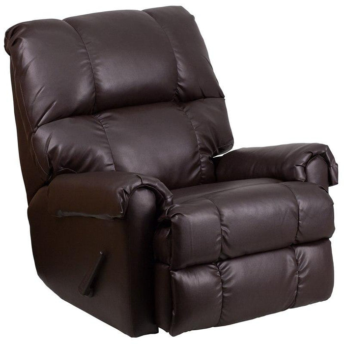 Flash Furniture WM-8700-620-GG Contemporary Ty Chocolate Leather Rocker Recliner