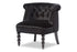 Wholesale interiors Flax Victorian Style Contemporary Black Velvet Fabric Upholstered Vanity Accent Chair WS-GK756-Black