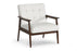 Wholesale interiors Stratham White Mid-Century Modern Club Chair Wiki-CN-A-white