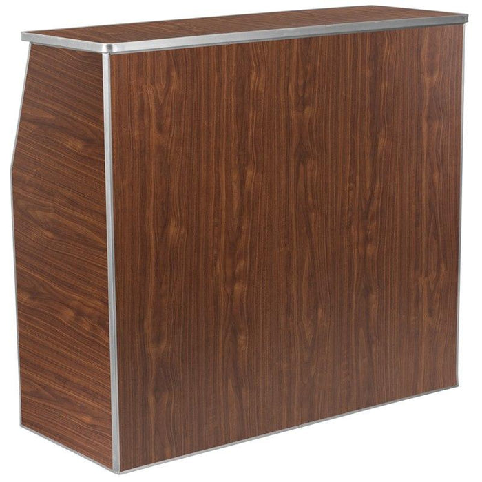 Flash Furniture XA-BAR-48-WAL-GG 4' Walnut Laminate Foldable Bar