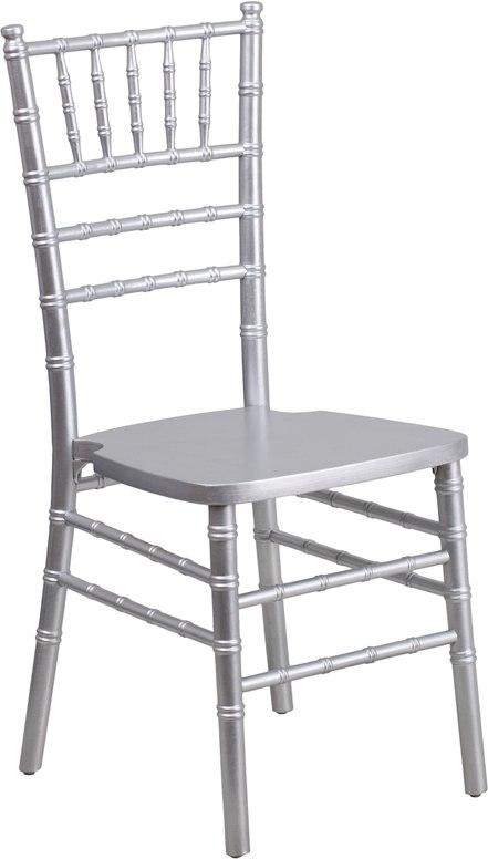 Flash Furniture XS-SILVER-GG HERCULES Series Silver Wood Chiavari Chair