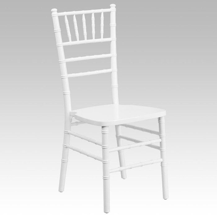 Flash Furniture XS-WHITE-GG HERCULES Series White Wood Chiavari Chair