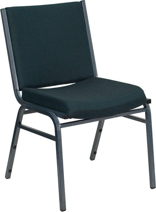 Flash Furniture XU-60153-GN-GG HERCULES Series Heavy Duty Green Patterned Fabric Stack Chair