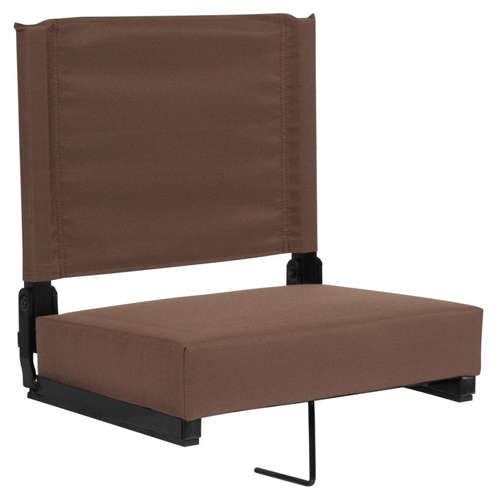 Flash Furniture XU-STA-BRN-GG Grandstand Comfort Seats by Flash with Ultra-Padded Seat in Brown