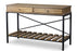 Wholesale interiors Newcastle Wood and Metal Console Table-Criss-Cross YLX-0003-AT