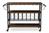 Wholesale interiors Bradford Rustic Industrial Style Antique Black Textured Finish Metal Distressed Wood Mobile Kitchen Bar Serving Wine Cart YLX-9044