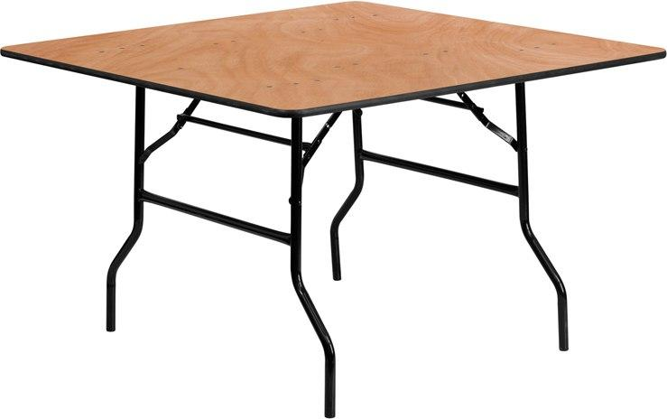 Flash Furniture YT-WFFT48-SQ-GG 48'' Square Wood Folding Banquet Table