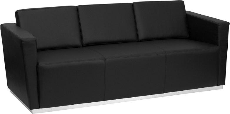 Sensational Flash Furniture Zb Trinity 8094 Sofa Bk Gg Hercules Trinity Series Contemporary Black Leather Sofa With Stainless Steel Base Gmtry Best Dining Table And Chair Ideas Images Gmtryco