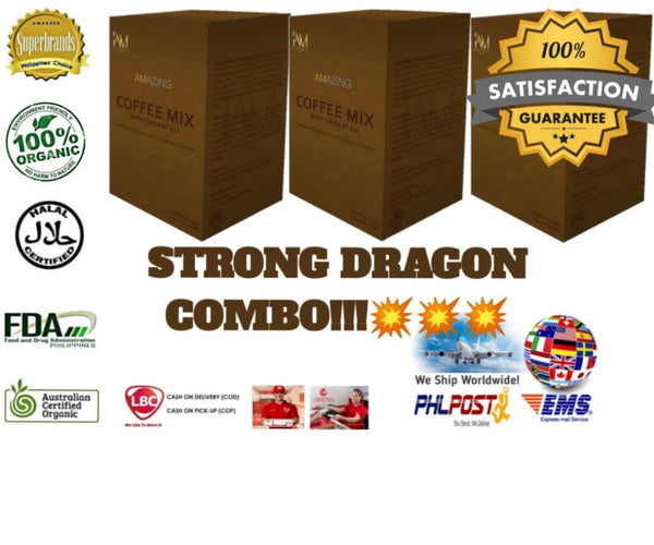 Amazing Coffee Mix with Tongkat-Ali Strong Dragon Combo!!!