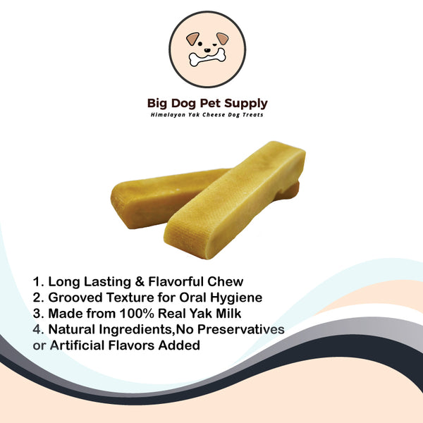 Big Dog Pet Supply Himalayan Yak Cheese Dog Treats-Medium
