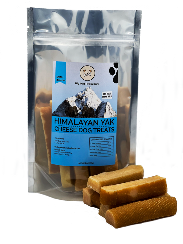 Big Dog Pet Supply Himalayan Yak Cheese Dog Treats-Small by Pieces