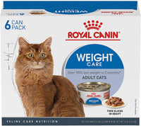 Royal Canin Feline Weight Care Thin Slices in Gravy Canned Adult Multipack Wet Cat Food, 3 oz, 6 Counts