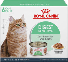 Royal Canin Digest Sensitive Thin Slices in Gravy Wet Cat Food, 6 Pack 3 oz Cans