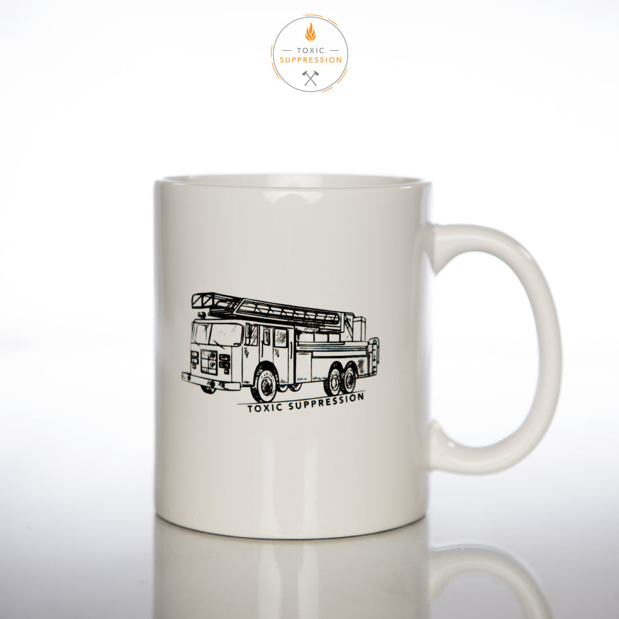 Toxic Suppression Firetruck Coffee Mug