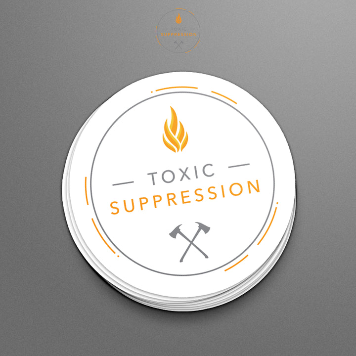 Toxic Suppression Vinyl Stickers (full set)