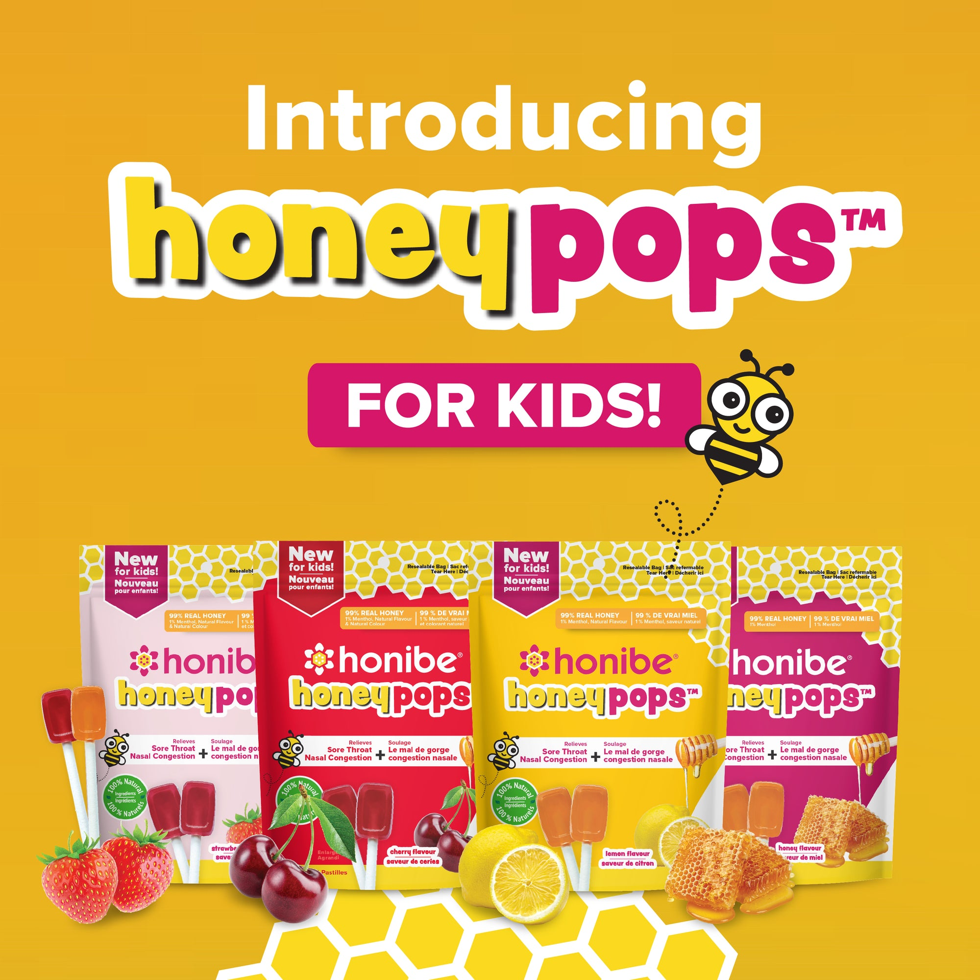 Introducing Honibe HoneyPops™!