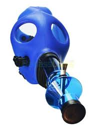 Silicone Gas Mask Bong Waterpipe