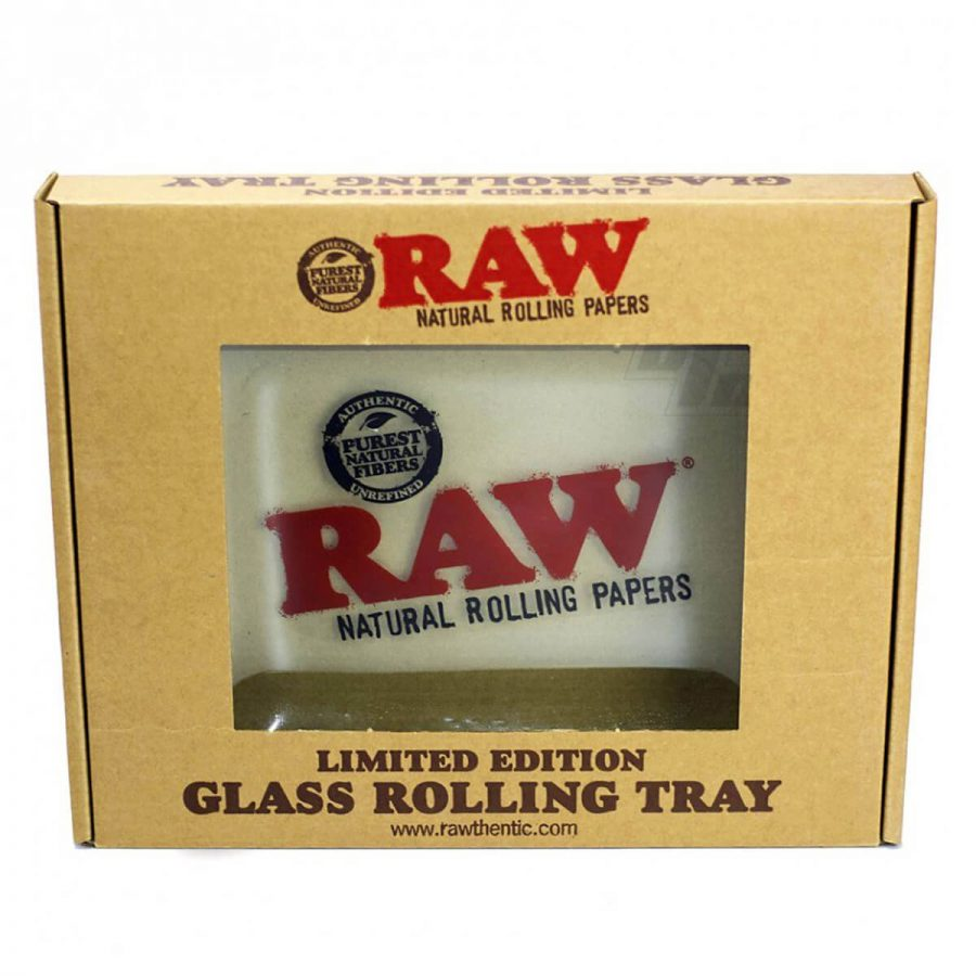 RAW Double Thick Glass Rolling Tray