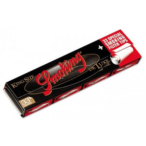 Smoking Deluxe kingsize slim rolling papers + Tips.