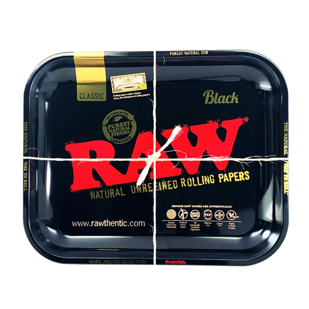 RAW Large Metal Rolling Tray Black