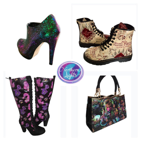 Harry Potter Doctor Martens and Cheshire Cat Boots