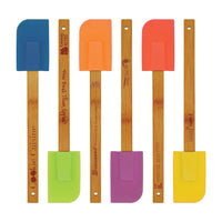 Silicone Spatula with Bamboo Handle Set of 6