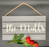 Personalized Last Name 3D Sign