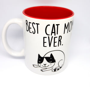 "Super Limited Edition Drinkware- Coffee Cup ""Best Cat Mom.Ever."" - Katie and Olivia Handmade Goodies"