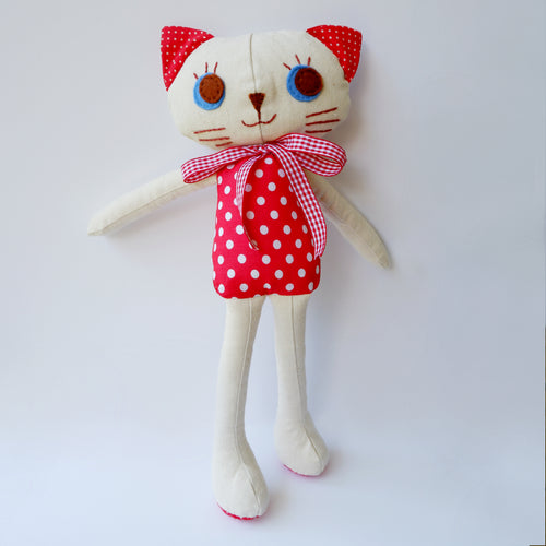 Handmade Katie Kat Doll 12 inches- Lily - Katie and Olivia Handmade Goodies