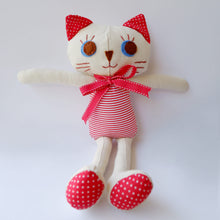 Load image into Gallery viewer, Handmade Katie Kat Cat Doll 12 inches- Chanel - Katie and Olivia Handmade Goodies