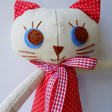 Load image into Gallery viewer, Handmade Katie Kat Cat Doll 12 inches- Audrey - Katie and Olivia Handmade Goodies