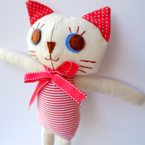 Handmade Katie Kat Cat Doll 12 inches- Chanel - Katie and Olivia Handmade Goodies
