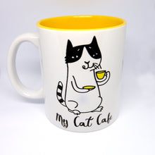 "Load image into Gallery viewer, Super Limited Edition Drinkware- Coffee Cup ""My Cat Cafe"" - Katie and Olivia Handmade Goodies"