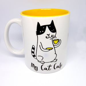 "Super Limited Edition Drinkware- Coffee Cup ""My Cat Cafe"" - Katie and Olivia Handmade Goodies"