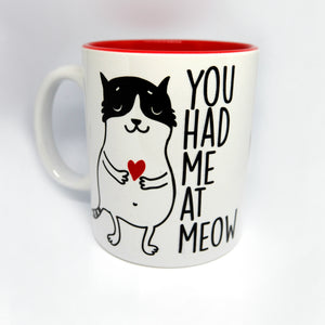 "Super Limited Edition Drinkware- Coffee Cup ""You Had Me at Meow"" - Katie and Olivia Handmade Goodies"