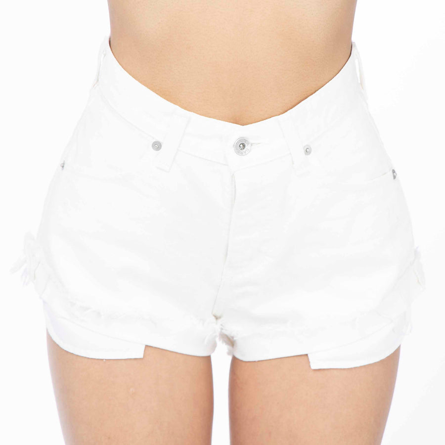 Jaguar Leg Shorts White