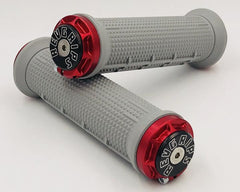 Half Waffle Revgrips Grey with Red Clamps