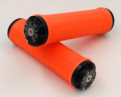 Rev Grips Neon Orange with Black Clamps Large 34mm