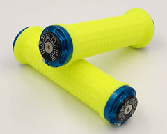 Rev Grips Neon Yellow with Blue Clamps