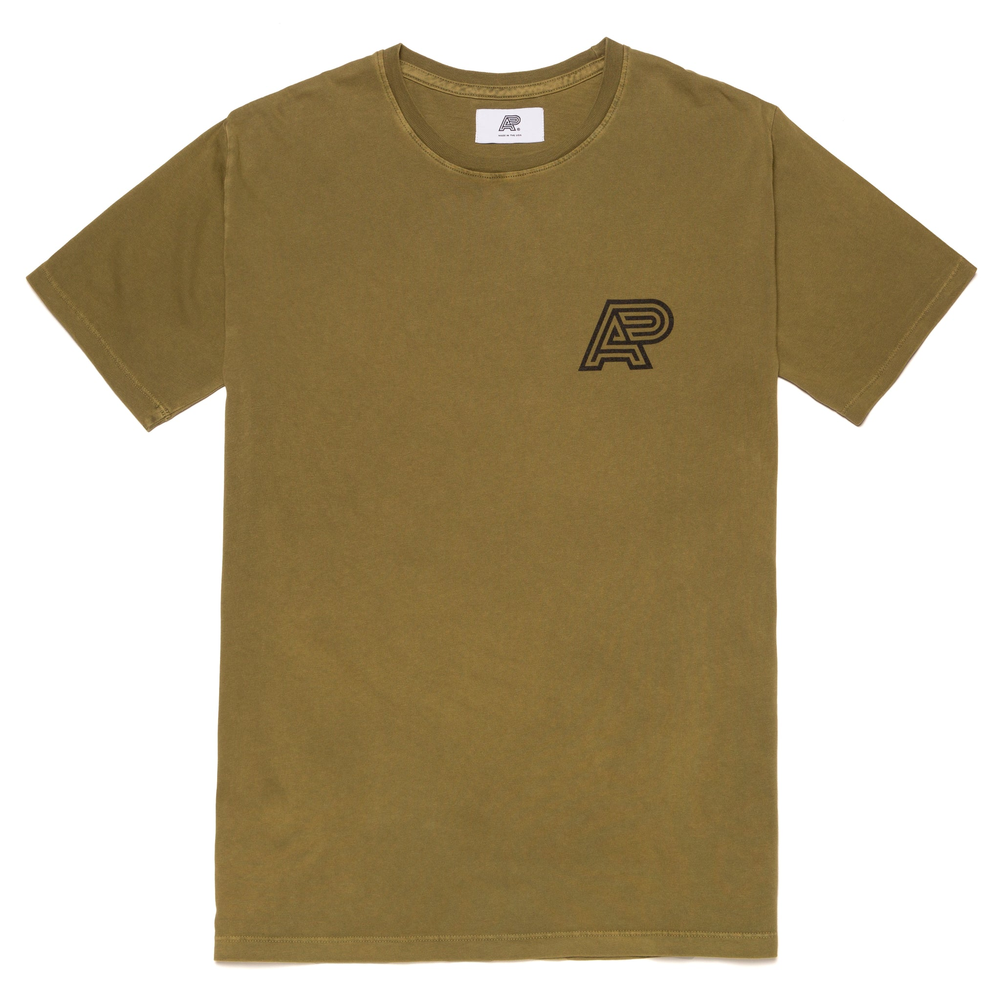 A&P OLIVE PIGMENT DYED TEE (FULFILLMENT)