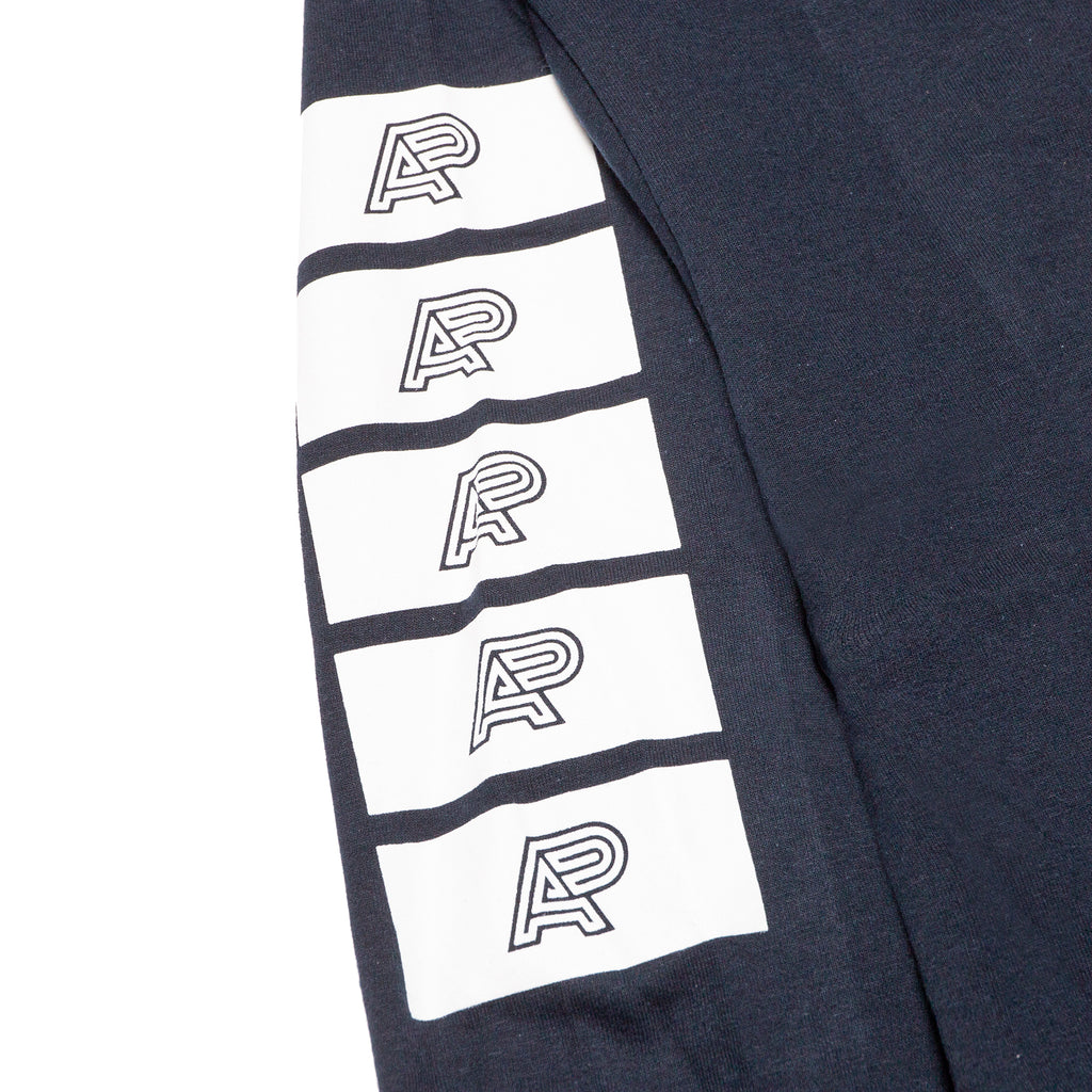 A&P BLOCK LOGO LS TEE NAVY BLUE (FULFILLMENT)