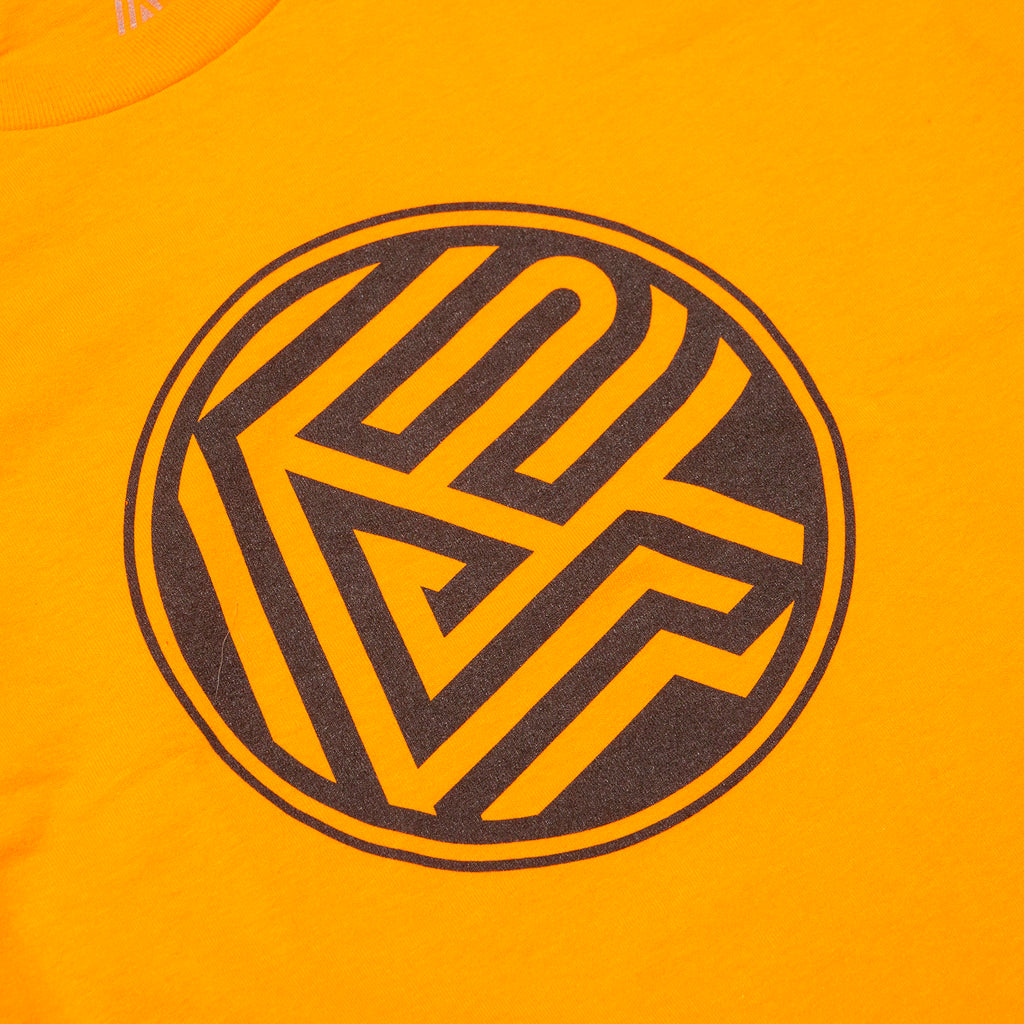 A&P BLOCK LOGO LS TEE ORANGE