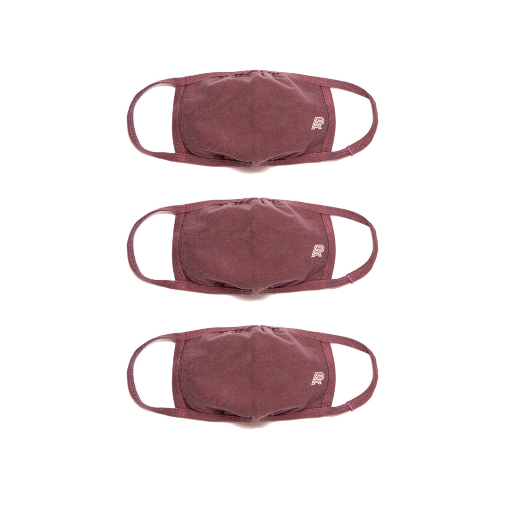 A&P PIGMENT DYED MARK MASK BURGUNDY (FULFILLMENT)