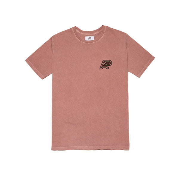 A&P OD SALMON PIGMENT DYED TEE