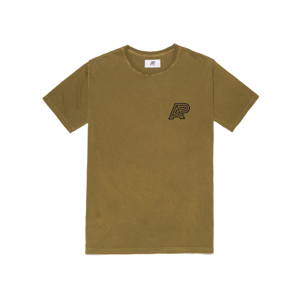 A&P OLIVE PIGMENT DYED TEE
