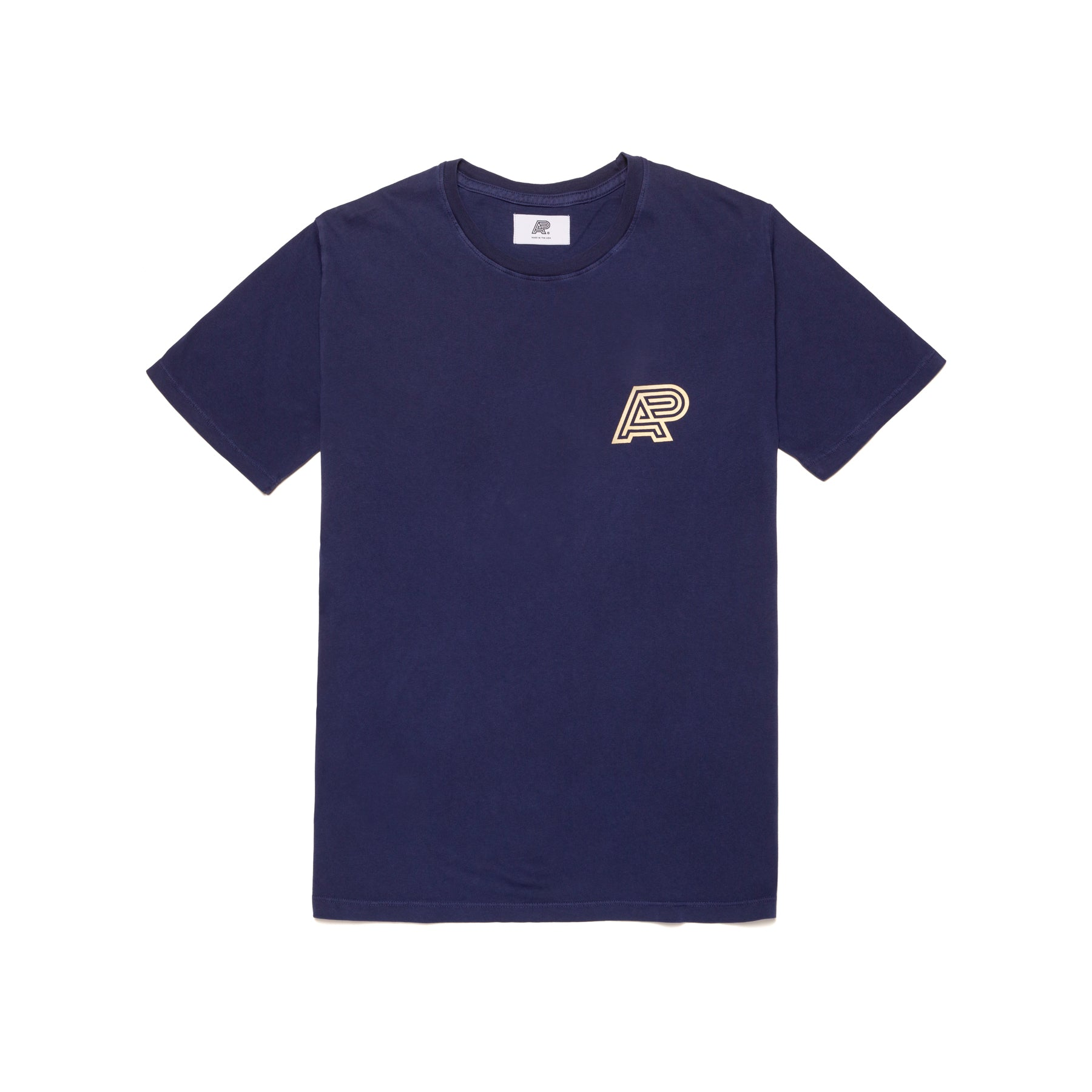 A&P NAVY PIGMENT DYED TEE