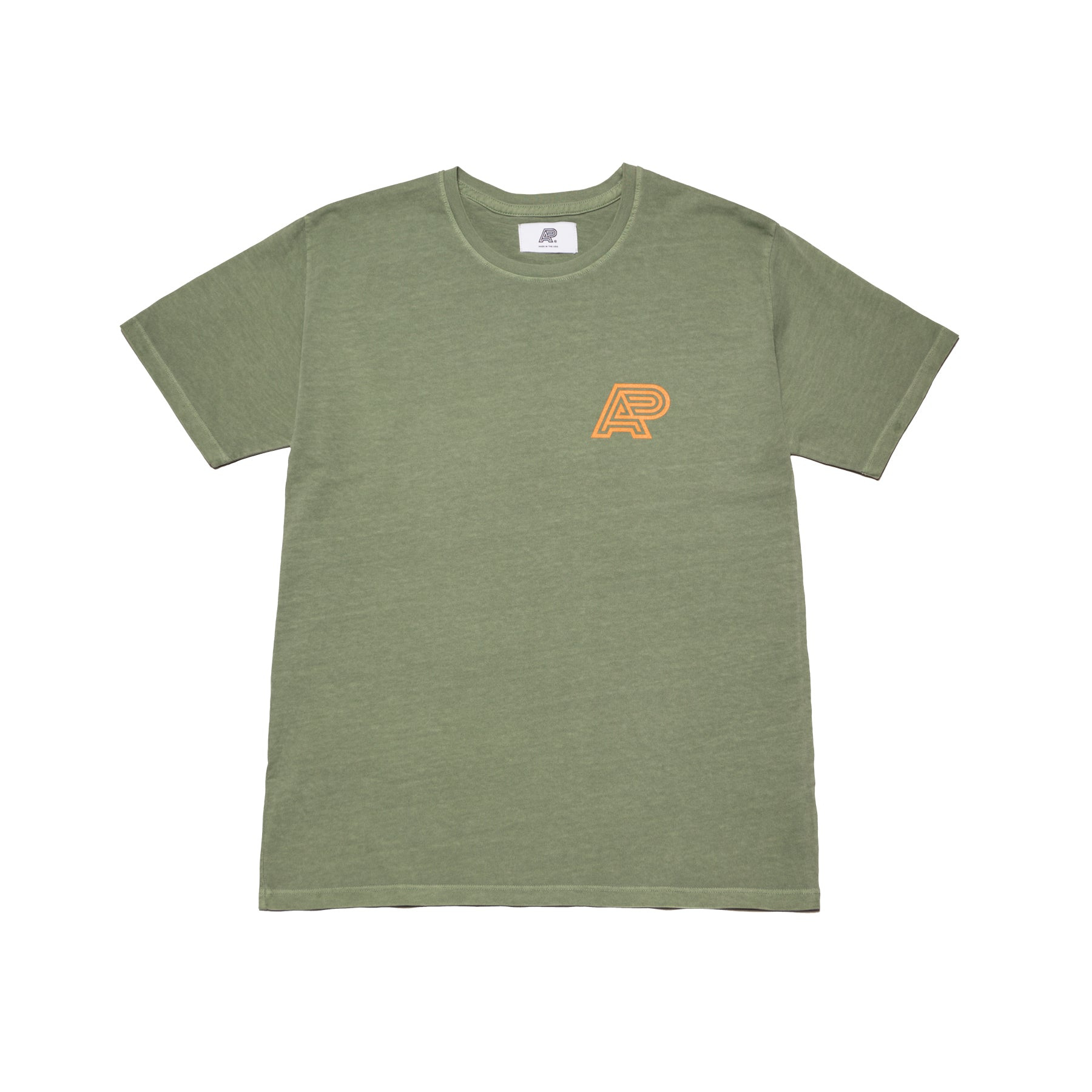 A&P VERDIAN GREEN PIGMENT DYED TEE